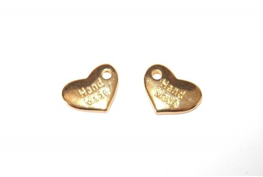 Pendente Cuore Hand Made Oro 15x10mm - 4pz