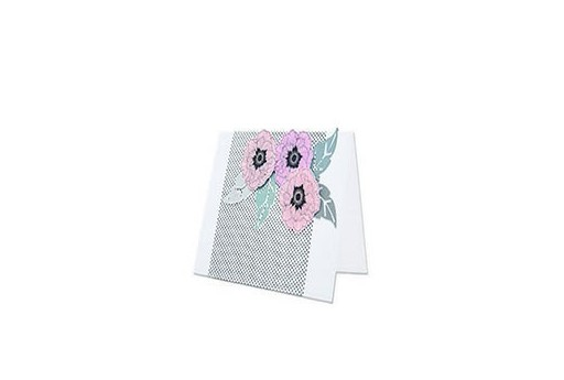Framelits Dies + Coordinate Stamp Folk Flower Sizzix