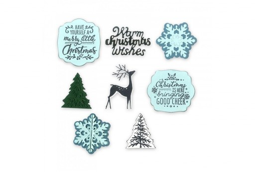 Set Fustelle Framelits + Timbri Natale E' Arrivato Katelyn Lizardie Sizzix
