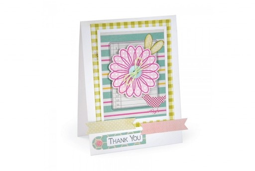 Framelits Dies + Coordinate Stamps Flowers And Tags Stephanie Barnard Sizzix