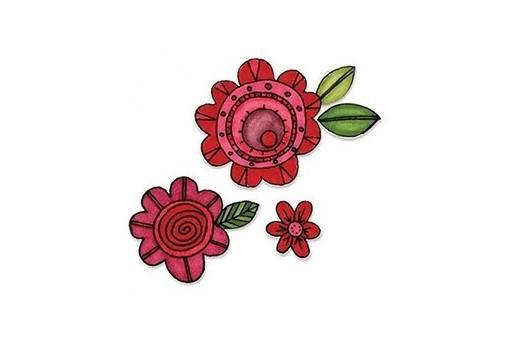 Framelits Dies + Coordinate Stamps Flowers n.6 Stephanie Ackerman Sizzix