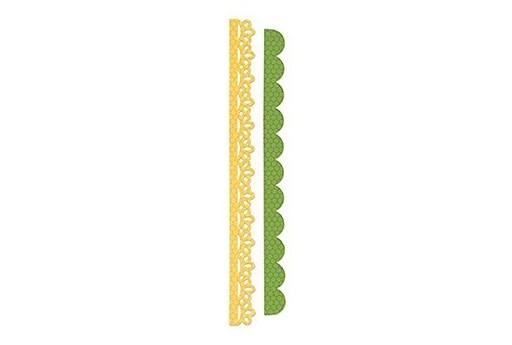 Fustella Sizzlits Strisce Decorative Occhiello in Pizzo e Dentellato Sizzix