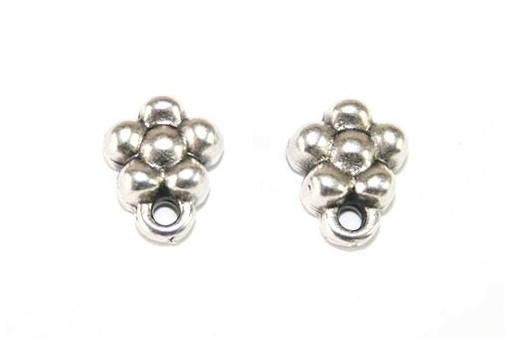 Silver Earring Flower 7x9,5mm - 2pcs