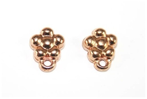 Rose Gold Earring Flower 7x9,5mm - 2pcs