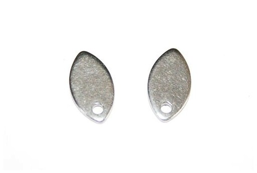 Stainless Steel Ear Stud Oval 10x6mm - 4pcs