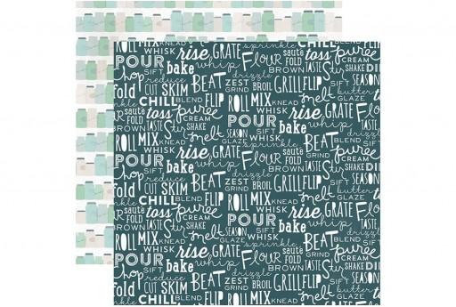 Double-Sided Patterned Paper Blissful Baking Echo Park Paper Co. 30x30cm 1sheet