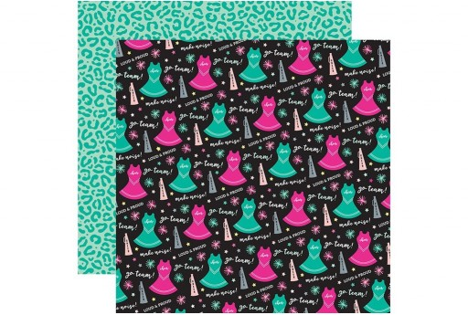 Double-Sided Patterned Paper Go Team Echo Park Paper Co. 30x30cm 1sheet
