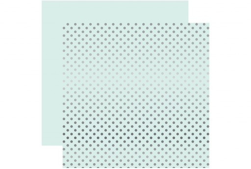 Double-Sided Patterned Paper Silver Foil Dot Ice Blue Echo Park Paper Co. 30x30cm 1sheet