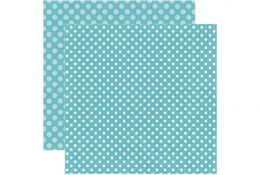 Double-Sided Patterned Paper Powder Blue Dot Echo Park Paper Co. 30x30cm 1sheet