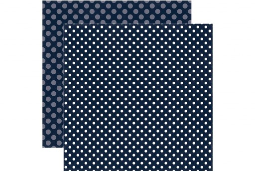 Double-Sided Patterned Paper Blu Night Sky Dot Echo Park Paper Co. 30x30cm 1sheet