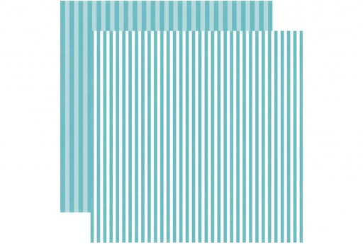 Double-Sided Patterned Paper Powder Blue Stripe Echo Park Paper Co. 30x30cm 1sheet