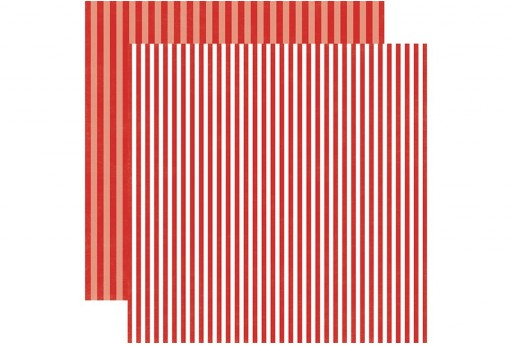 Double-Sided Patterned Paper Winter Berry Stripe Echo Park Paper Co. 30x30cm 1sheet