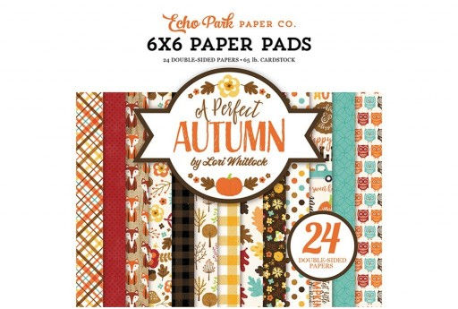 Set di Carte Decorate A Perfect Autumn Paper Pad Echo Park Paper Co. 15x15cm 24pz
