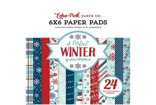 Set di Carte Decorate A Perfect Winter Paper Pad Echo Park Paper Co. 15x15cm 24pz