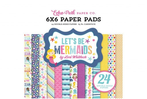 Set di Carte Decorate Let'S Be Mermaids Paper Pad Echo Park Paper Co. 15x15cm 24pz