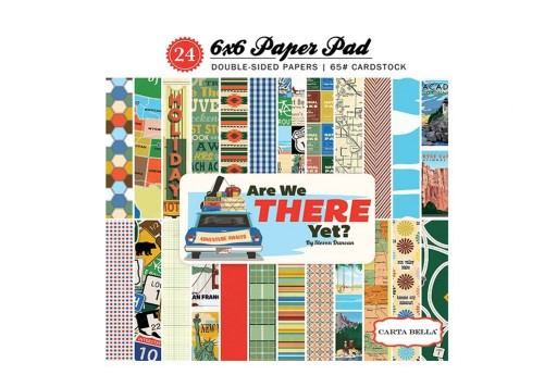 Patterned Paper Pad Are We There Yet Carta Bella 15x15cm 24 sheets