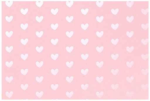 Cardstock Bazzill Cotton Candy Foil Hearts 30x30cm 1 sheet