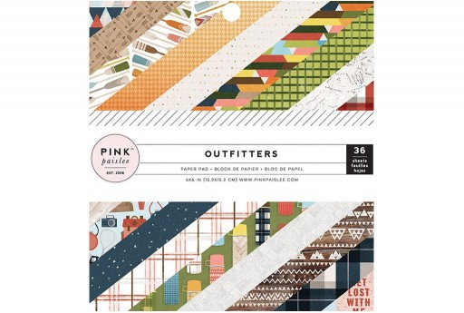 Patterned Paper Pad Outfitters Pink Paislee 15x15cm 36 sheets