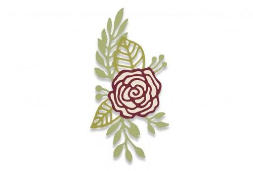 Fustelle Thinlits Rosa Disegnata Sizzix