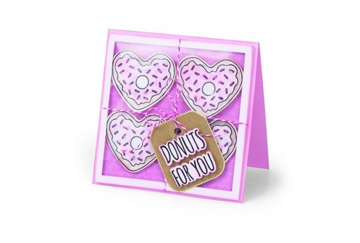 Framelits Dies + Coordinate Stamps Donuts for You Sizzix