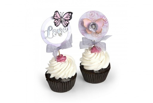 Framelits Dies + Coordinate Stamps Cupcake Topper Sizzix