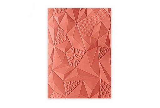 Embossing Folder Jumbled Triangles 3-D Textured Impressions Sizzix
