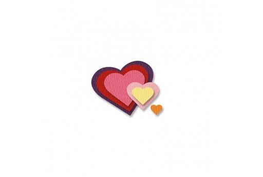 Cutting Dies Hearts Vaessen Creative 6pcs