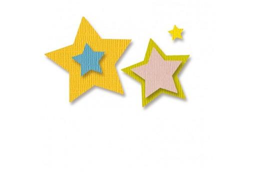 Cutting Dies Stars Vaessen Creative 5pcs