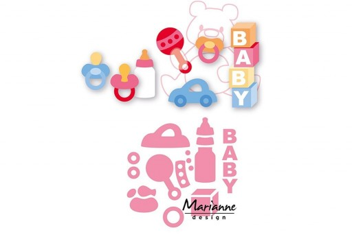 Cutting Dies Eline's Baby Essentials Collectables Marianne Design