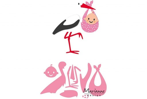 Cutting Dies Eline's Stork Collectables Marianne Design