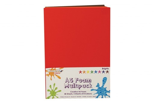 Foam Multipack A5 Bright Colors Dovecraft 40 sheets
