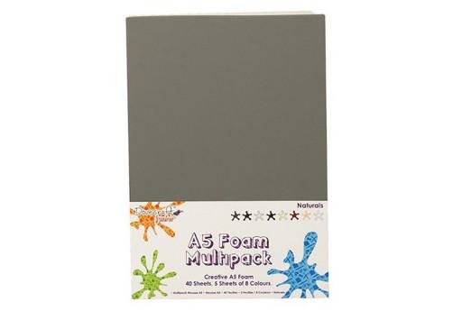 Gomma Crepla A5 Colori Naturali Dovecraft 40pz