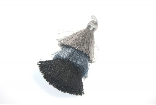 Triple Tassel Grey 70mm - 1pcs