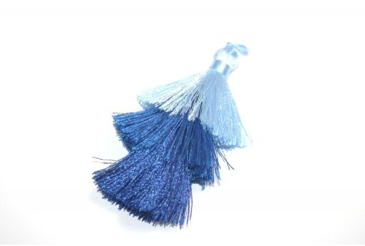 Triple Tassel Blue 70mm - 1pcs