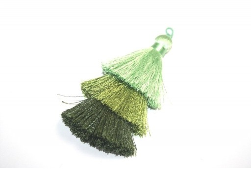 Triple Tassel Green 70mm - 1pcs