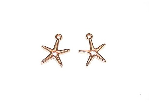 Starfish Wireframe Pendant Rose Gold 14x16mm -2pcs