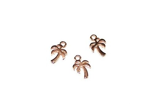 Palm Pendant Rose Gold 8x11mm  - 4pcs