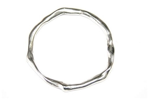 Anello Connettore Argento Zama 41x42mm - 1pz