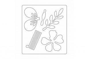 Fustella BigZ con Textured Impressions Farfalle Decorative Sizzix