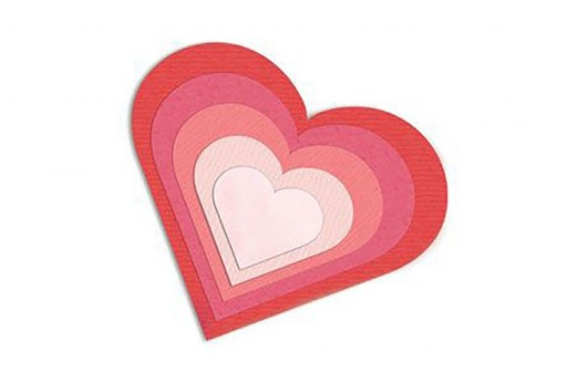 Framelits Dies Hearts Sizzix 6pcs