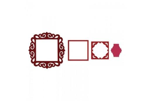 Framelits Dies Frame Fancy Square Sizzix