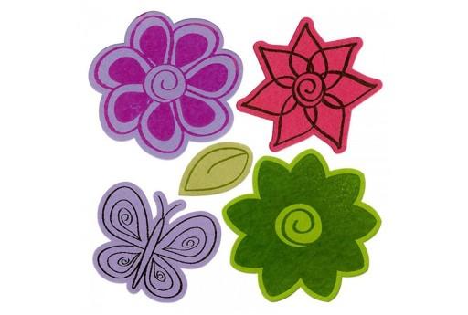 Framelits Dies + Coordinate Stamps Flowers n.4 Sizzix