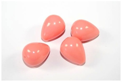 Gocce Turchese Sintetico Rosa Corallo 20x15mm - 2pz
