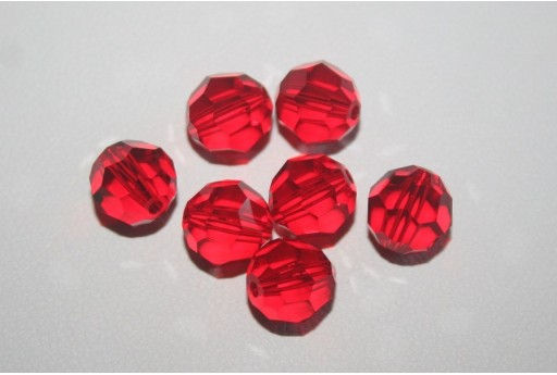 Round Swarovski Light Siam 8mm - 2pcs