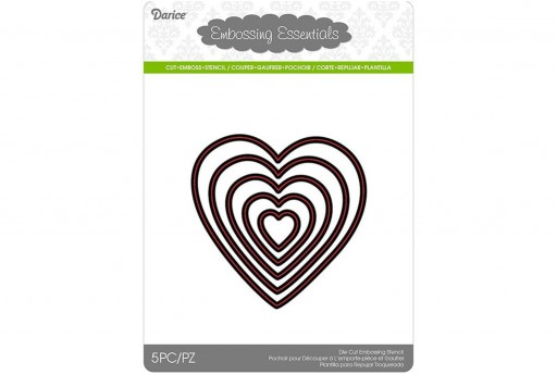 Cutting Dies Hearts Darice 5pcs