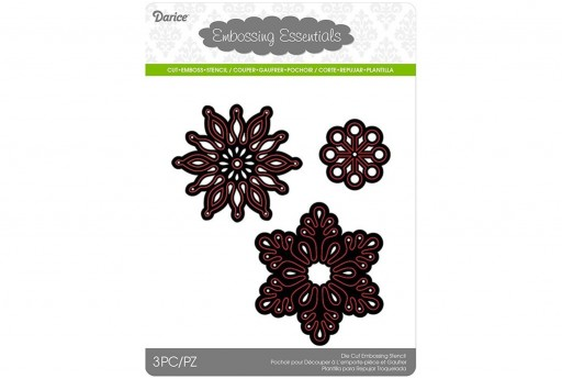 Cutting Dies Assorted Snowflakes Darice 3pcs
