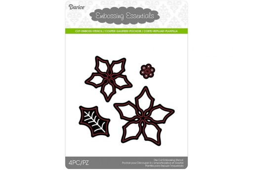 Cutting Dies Poinsettia Darice 4pcs