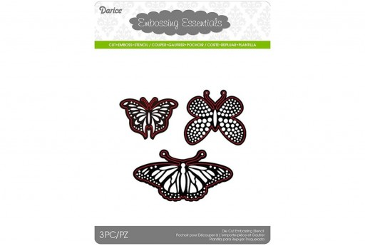 Cutting Dies Assorted Butterflies Darice 3pcs