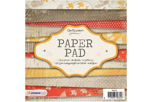 Set di Carte Decorate Paper Pad n.70 Studio Light 15x15cm 36pz