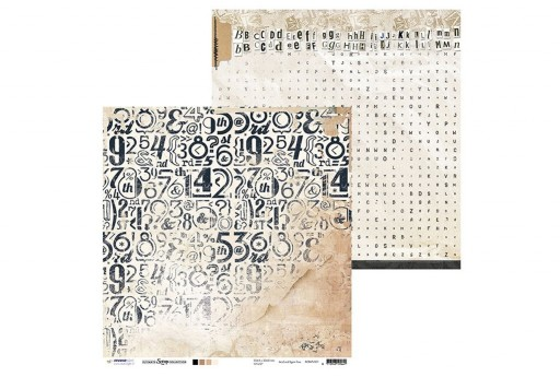 Carta Decorata n.01 Ultimate Scrap Collection Studio Light 30x30cm 1pz.